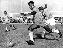 Pele playing for Brazil 1958
